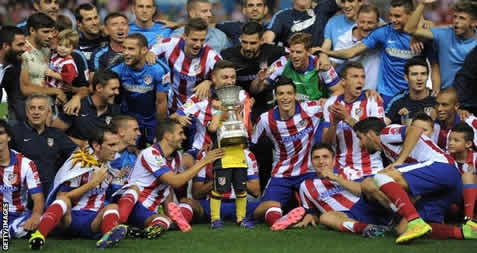 Atletico Madrid beat Real Madrid to win Spanish Super Cup - 2014