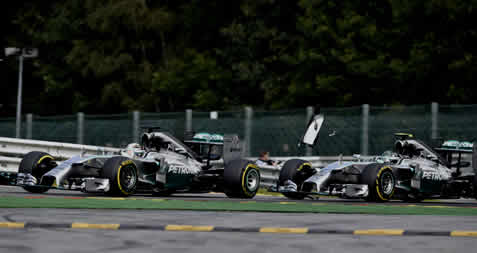 Rosberg admitted to deliberately causing the clash